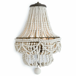 Malibu Sconce - Weathered White