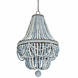 Malibu Wood Bead 6-Light Chandelier