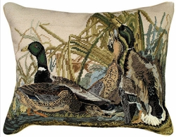 Mallard Needlepoint Pillow