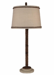 Manila Rope Table Lamp with Cottage Finish