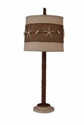 Manila Rope Table Lamp with Starfish Shade