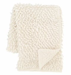 Mara Knit Ivory Throw