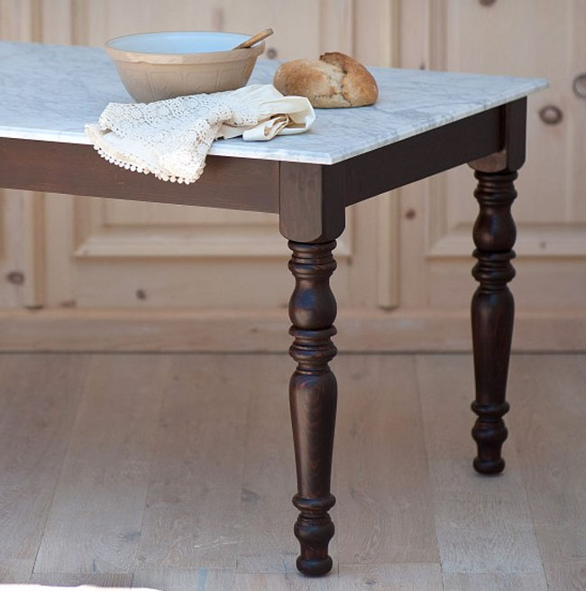 Marble English Farmhouse Dining Table For Sale Cottage Bungalow Custom English Dining Room Furniture