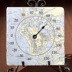 Marble Thermometer with Easel - Customize Your Location