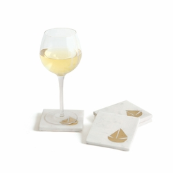 Marble Schooner Coasters Set of Four