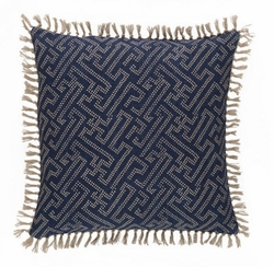 Marianna Greek Key/Chevron Pillow <font color=a8bb35> NEW</font>