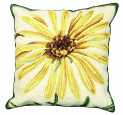 Marigold Needlepoint Pillow