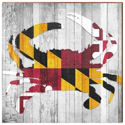 Maryland Crab Beach Wall Art <font color=a8bb35> NEW</font>