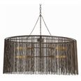 Maxim 4L Iron Beaded Oval Chandelier