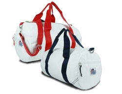 Medium Sailcloth Round Duffel Bag in Two Colors
