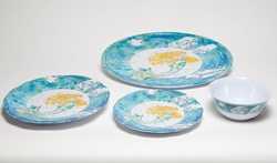 Mermaid Melamine Dinner Collection with Platter