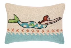 Mermaid Brunette Hook Pillow