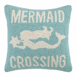 Mermaid Crossing Hooked Pillow