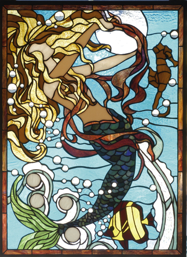 Mermaid Stained Glass Window For Sale Cottage Amp Bungalow