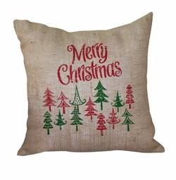 Merry Christmas Pillow <font color=a8bb35> Discontinued</font>
