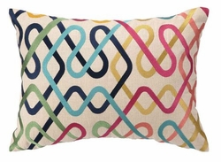 Metro Embroidered Pillow <font color=a8bb35> Discontinued</font>