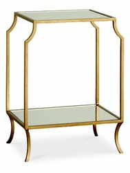 Mila Small Side Table with Mirror