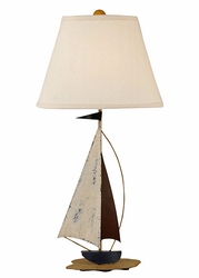 Mini Iron Sail Boat Lamp Navy Sail