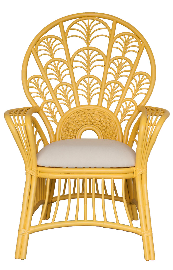 Moderne Maru Peacock High Back Chair For Sale Cottage Bungalow