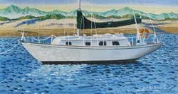 Morning Light on the Sailboat Beach Print