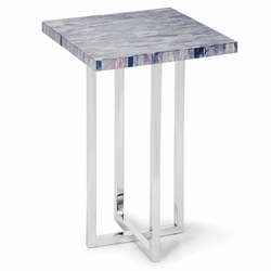 Mosaic Bone Top End Table