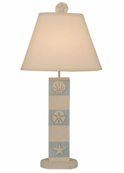 Multi Shell Table Lamp - Light Blue