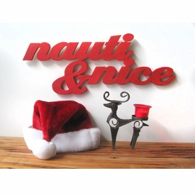 Nauti & Nice Beach Sign