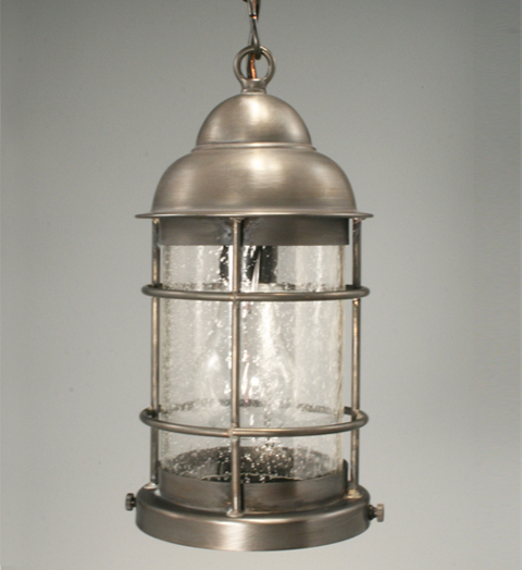 Nautical Hanging Light Fixture With Clear Seedy Gl