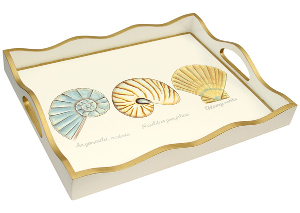 Shell Painted Tray