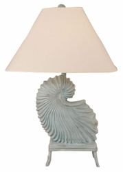 Nautilus Shell Lamp with Stand