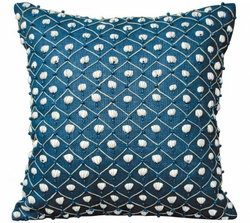 Navy Shell Indoor Pillow