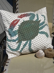 Netted Blue Crab Pillow