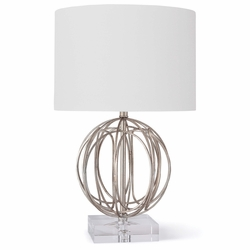 Ofelia Table Lamp - Silver Leaf