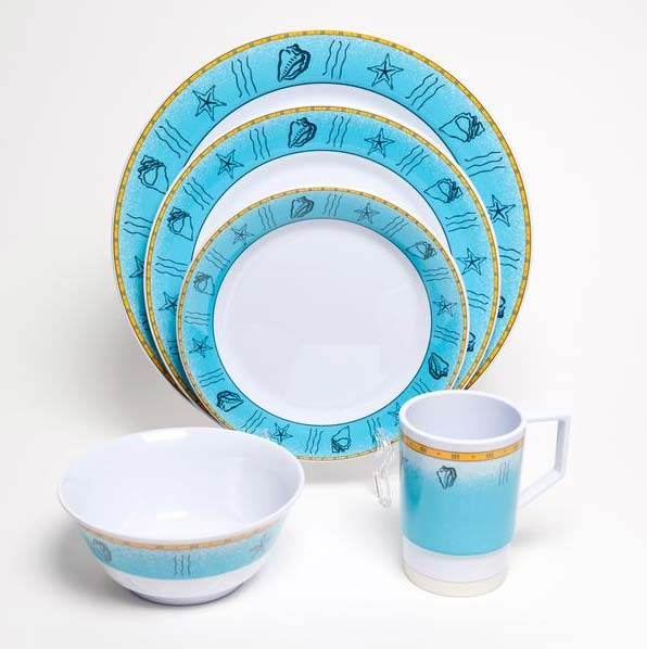 Offshore Melamine Dinnerware Collection With Platter For Sale   Cottage U0026  Bungalow