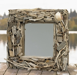 Handcrafted Driftwood Pacific Mirror