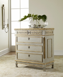 Painted Coastal Regency Chest