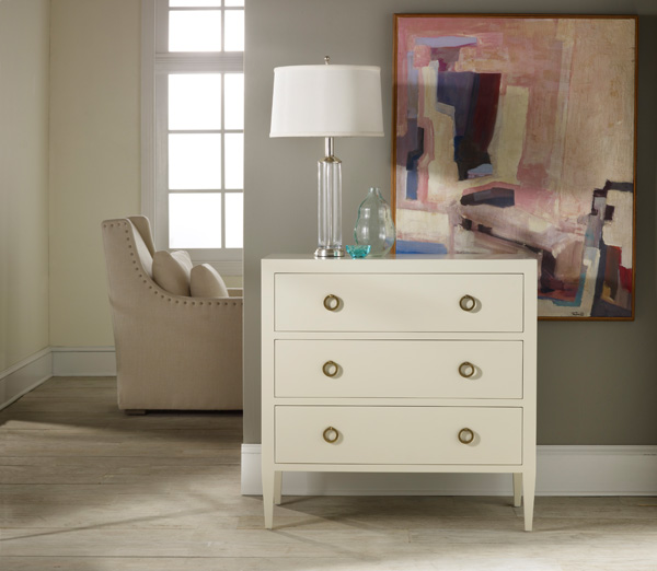 Painted White Three Drawer Chest For Sale Cottage Amp Bungalow