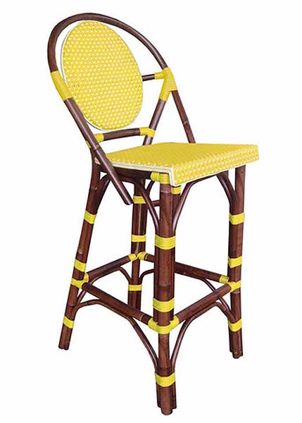 Paris Bar Stool in Yellow