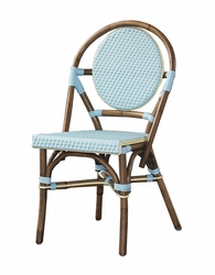 Paris Bistro Chair in Blue - Set of Two