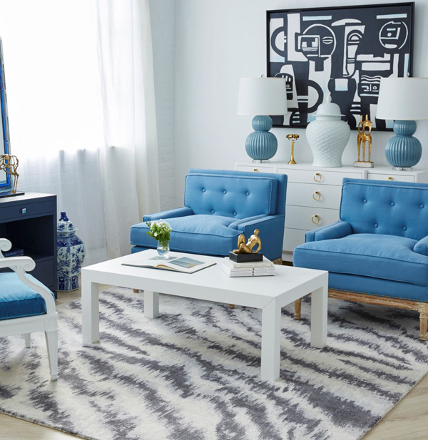 Parsons Grasscloth Coffee Table In White Buy Now At Cottage And Bungalow