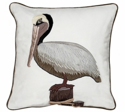 Pelican Applique Indoor Pillow