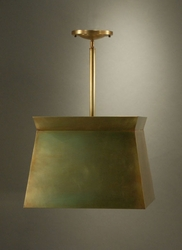 Pendant Light with Brass Shade Large