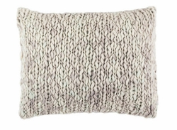 Chunky Knit Grey Decorative Pillow