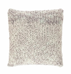 Chunky Knit Grey Sham<font color=a8bb35> NEW</font>