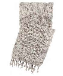 Chunky Knit Grey Throw <font color=a8bb35> NEW</font>