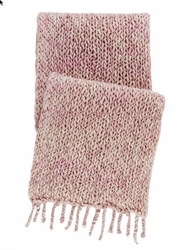 Chunky Knit Pink Throw  <font color=a8bb35> NEW</font>