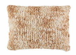 Chunky Knit Sand Decorative Pillow<font color=a8bb35> NEW</font>