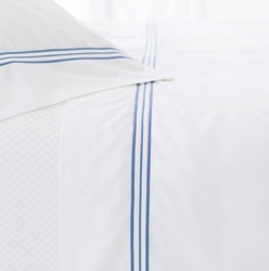 Trio French Blue Flat Sheet