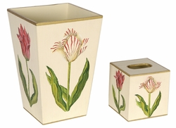 Pink and White Tulips Bath Set<font color=cf2317> Discontinued</font>