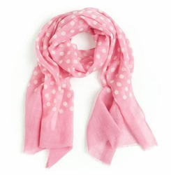 Pink Dots Beach Scarf